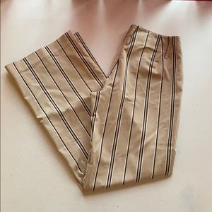 Express Khaki Striped Bootcut Dress Pants Zoe 5/6